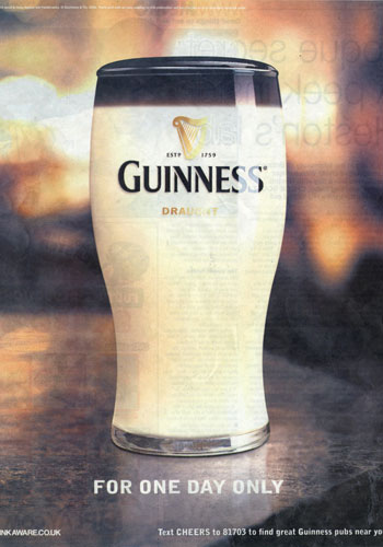 Guinness - April 1 Ad