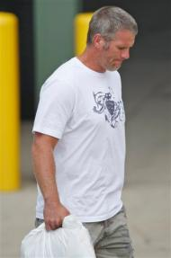 Favre heads out of town - Courtesy the AP