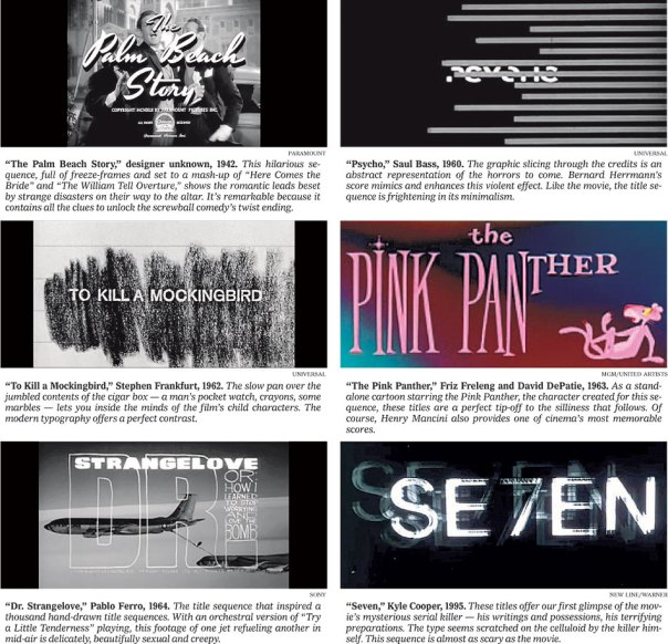 Classic Title Sequences Set the Scene