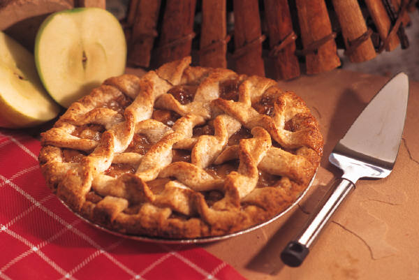 Fresh fruit pie = home